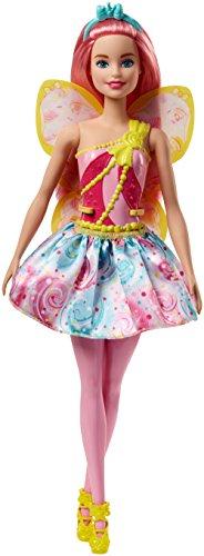 Barbie Dreamtopia, muñeca hada con falda azul y rosa, juguete +3 años...