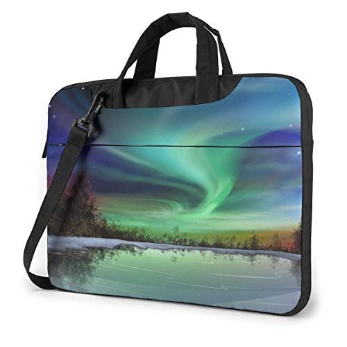Starry Galaxy Laptop Sleeve Case 13 Inch Computer Tote Bag Shoulder Messenger Briefcase for Business Travel