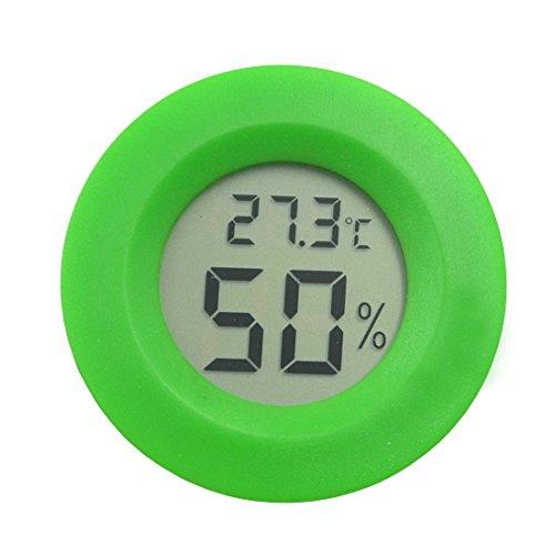 AngelaKerry Digital Reptile Thermometer Celsius Lizard Spider Tortoise Terrarium Tank Hygrometer - Green