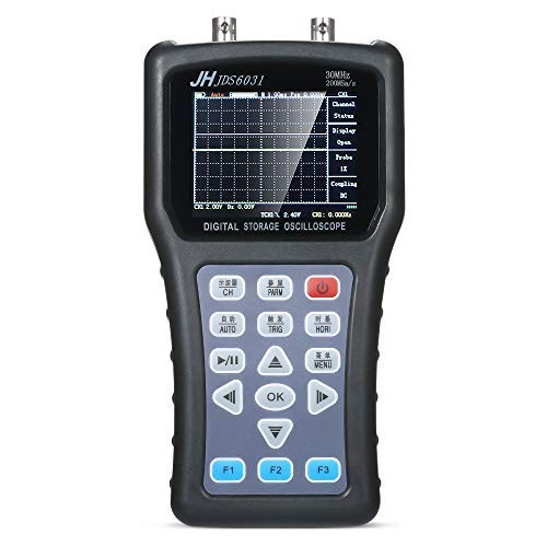 Oscilloscope, KKmoon Handheld Digital 1CH Oscilloscope Portable Scope Meter Digital Storage Oscilloscope 30MHz 200MSa/s with USB Charger Probe Cable Set Oscilloscope