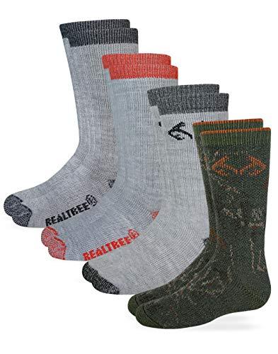 Realtree Kids Olive Camo Boot Socks (2-Pair Pack)