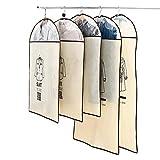 Un Conjunto de Cinco no Tejido La Tienda de Ropa Ropa de Danza Falda del Vestido de la Cremallera Incluye Ventana Transparente (Color : Beige, Size : L+M)
