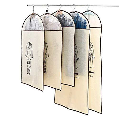 No brand Una Serie di Cinque Non Tessuto Il Negozio di Abbigliamento Danza Abbigliamento Dress Skirt Zipper Include Finestra Trasparente (Color : Beige, Size : L+M)