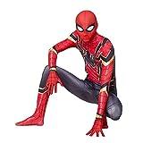 Disfraz De Superhéroe Spiderman 5-6 Años Adultos Niños Cosplay Traje De Disfraces En 3D Body para Halloween Fiesta De Carnaval Disfraces De Películas,Iron Spiderman-120~130cm