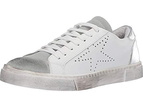 STEVEN by Steve Madden Women's REZZA Sneaker, White, 8 M US