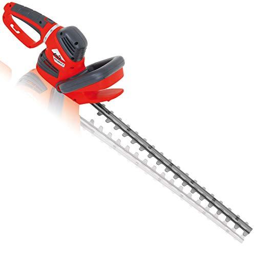 Grizzly Elektro Heckenschere EHS 600, 61 cm Messerlänge, 55 cm Schnittlänge, 600 W, 5-fach verstellbarer Drehgriff, robustes Metallgetriebe, mit Schnellstop-Bremsfunktion