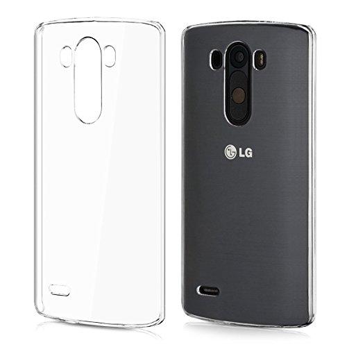 REY Funda Carcasa Gel Transparente para LG G3 Ultra Fina 0,33mm, Silicona TPU de Alta Resistencia y Flexibilidad