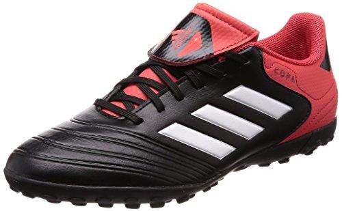 adidas Herren Copa Tango 18.4 TF Fußballschuhe, Schwarz (Core Black/Footwear White/Real Coral), 42 2/3 EU