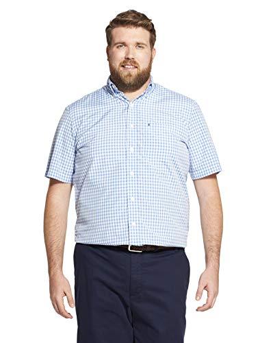 IZOD Men's Big Breeze Short Sleeve Button Down Gingham Shirt, Blue Revival, X-Large Tall