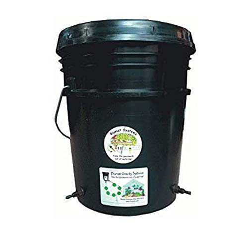 BLUMAT Water Reservoir   5-Gallon Bucket w/Lid & Bulkhead Fittings Installed   Ready for 8mm Super-Flex Tubing, Blumat Watering Sensors & Irrigation Systems   HDPE Food-Grade Plastic