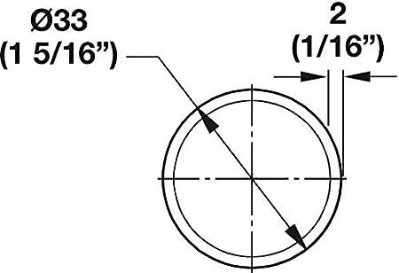 Hafele Kleiderstange Synergy Collection 29 3//4 Matt Nickel mit Endst/ützen rund