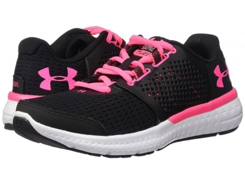 Under Armour(アンダーアーマー) レディース 女性用 シューズ 靴 スニーカー 運動靴 UA Micro G Fuel RN - Black/White/Cerise [並行輸入品]