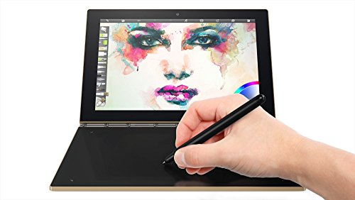 Lenovo Yoga Book 25,65cm (10,1 Zoll Full HD IPS Touch) 2in1 Tablet (Intel Atom x5-Z8550 Quad-Core, 4GB RAM, 64GB eMMC, LTE, Android 6.0, 2MP+8MP Kamera, Dolby Atmos) gold