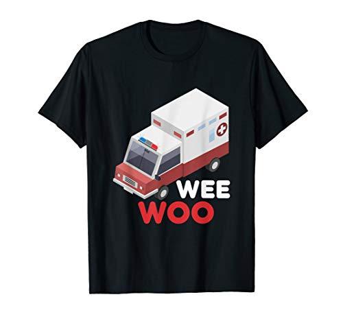 Ersthelfer Krankenwagen Wee Woo Sirene Rettungswagen T-Shirt