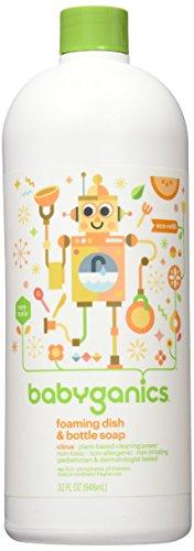 Babyganics Foaming Dish Soap , Citrus, 32oz, 23 Citrus - 32 oz, Packaging May Vary