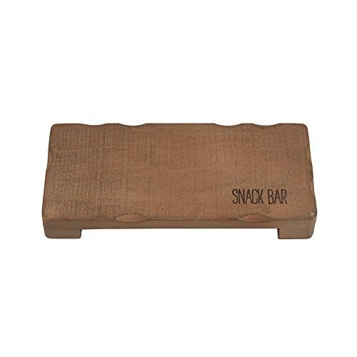 Mud Pie 4754065 Snack Bar Wood Serving Board, Brown