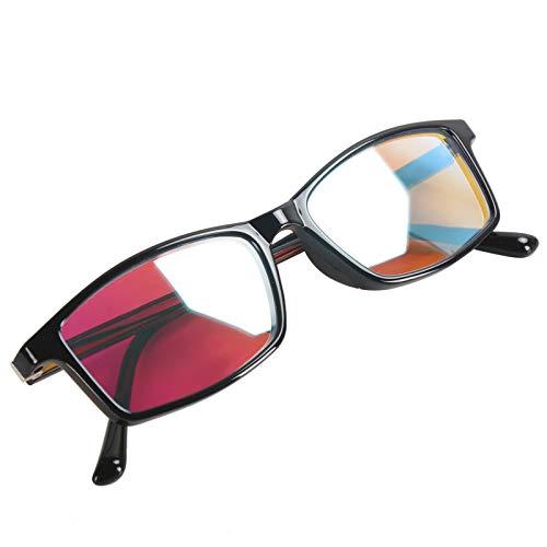 Gafas para daltonismo rojo-verde - Gafas de corrección para daltonismo Gafas de debilidad de color Estilo unisex de fotograma completo