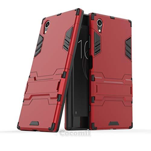Cocomii Iron Man Armor Sony Xperia XA1 Plus Hülle NEU [Strapazierfähig] Taktisch Griff Ständer Stoßfest Gehäuse [Militärisch Verteidiger] Ganzkörper Case Schutzhülle for Sony Xperia XA1 Plus (I.Red)