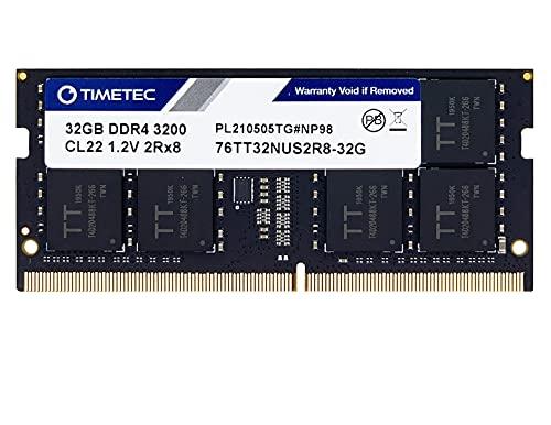 Timetec Hynix IC - Memoria RAM 3200Mhz DDR4 32GB, diseñado para Gaming, Alto Rendimiento, Compatible con AMD e Intel Laptop RAM (3200Mhz 32GB)