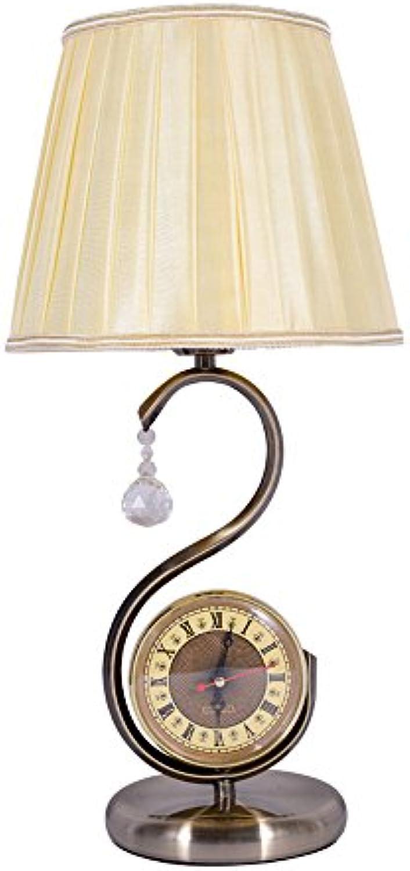 Leselampe Im Europischen Stil Schmiedeeisen Schreibtischlampe Vintage Schwanenhals Uhr Tischlampe Für Bett Wohnzimmer Gang, Φ24cm H50cm