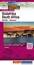South Africa, Namibia, and Botswana - Flash Guide - 1:2,000,000 (English, French, Italian and German Edition)