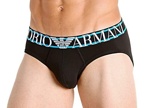 Emporio Armani Underwear Brief Pop Logo Pantaloncini, Nero, S Uomo