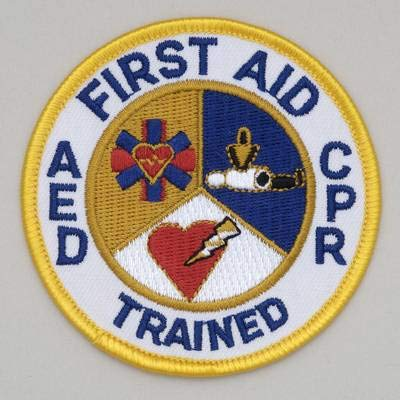 First Aid CPR AED Trained Embroidered Patch Pack 3 Inch 10 Large special price Cheap bargain D -