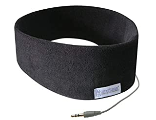 AcousticSheep SleepPhones Classic | Corded Headphones for Sleep, Travel, and More | The Original and Most Comfortable Headphones for Sleeping | Midnight Black - Fleece Fabric (Size M) (B0046H8ZHS) | Amazon price tracker / tracking, Amazon price history charts, Amazon price watches, Amazon price drop alerts