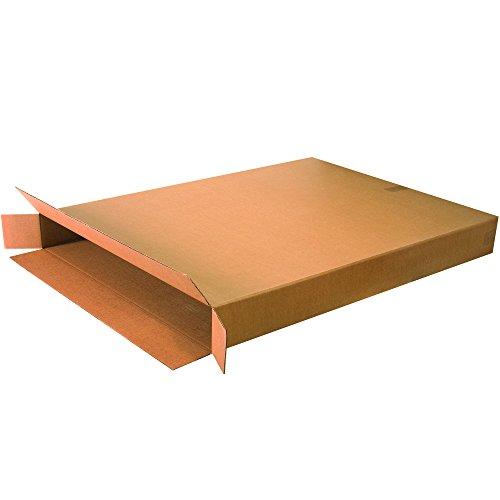 Aviditi 36548FOL Single-Wall Side Loading Box, 36' Length x 5' Width x 48' Height, Kraft (Bundle of 5)