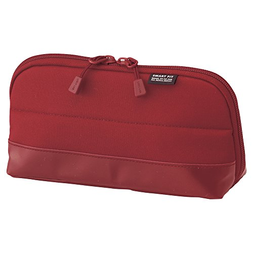LIHIT LAB Pen Case (Pencil Case), Water & Stain Repellent, 8' x 4'' , Red (A7688-3)