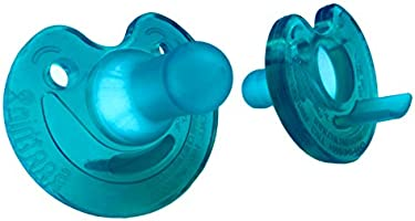 Philips Notched Newborn Soothie Pacifier, Green, 0-3 Months, Hospital Binky - Natural Scent (2pack)