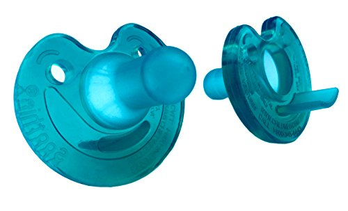 Philips Notched Newborn Soothie Pacifier, Green, 0-3 Months, Hospital Binky - Natural Scent by Philips Respironics