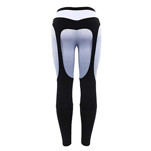 Pantalones de Yoga a Cuadros para Mujer, Mallas Deportivas, Mallas de Fitness, Invierno, Negro, Blanco, Patchwork, Pantalones de Cintura Alta, Ropa Deportiva