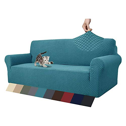 HUANXA Jacquard Elástica Funda De Sofá, Relax Elasticidad Funda para Sofá Antideslizante Lavable Funda Cubre Sofá Protector De Muebles para Gato Perro Niño-Azul eléctrico- 2 plazas