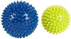 HUDORA fitness massage ball 2 piece, lemon / blue, 76769
