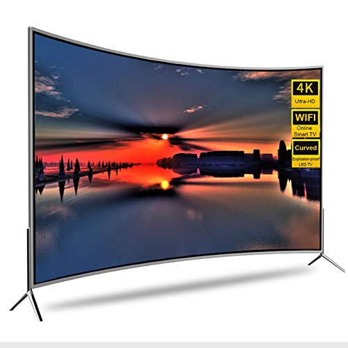4K LCD TV WiFi Smart LED Curved TV 32 42 55 60 Pulgadas, Pantalla a Prueba de explosiones UHD Network TV Android WiFi TV, con Interfaz de TV por Cable, VGA, HDMI, USB