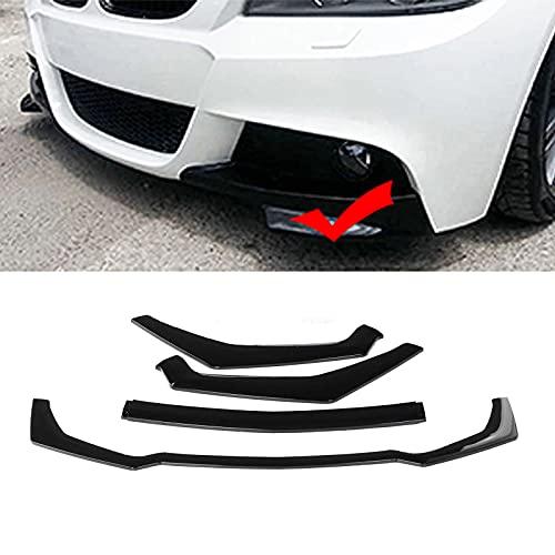 ZYS Alerón Delantero para Coches Alerón de Parachoques Delantero Ajuste para Mustang 2018-2020 Canard Splitter Lip Diffuser