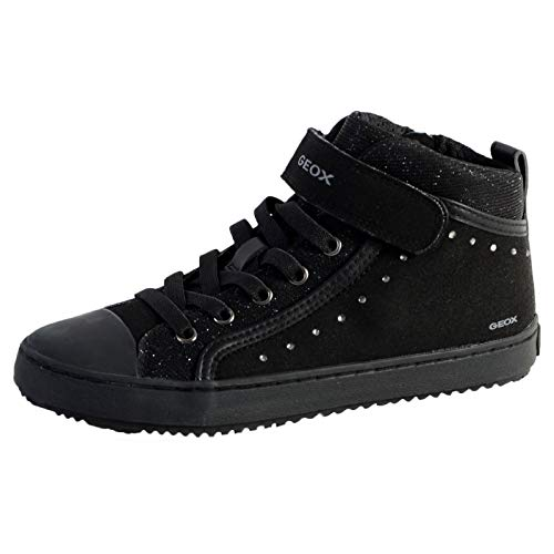 Geox J Kalispera Girl I, Zapatillas Altas para Niñas, Negro (Black), 32 EU
