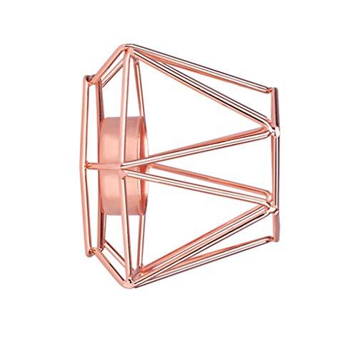 Gouden ijzeren kandelaars geometrische kandelaar metalen theelicht theelicht kaars beker, metalen votief kaars beker huisdecoratie