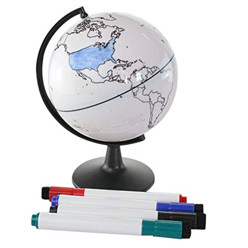 Nrpfell Globo Pintado a Mano Mapa Del Mundo Pintado a Mano Puede Pintar Borrable EdicióN Creativa Diy Material DidáCtico Mobiliario de Oficina