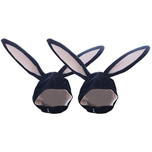 SOIMISS 2 Piezas de Accesorios de Disfraz de Carnaval para Cosplay de Orejas de Conejo de Peluche Sombrero en Movimiento