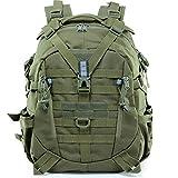 Guu Mochila 25L Grande out Travel Backpack Daypack 20 * 12 Pulgadas Impermeable Mochila para Negocios/Trabajo/Escuela/Hombres/Mujeres,Army Green