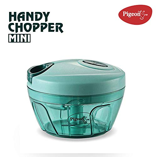 Pigeon Polypropylene Mini Handy and Compact Chopper with 3 Blades for Effortlessly Chopping Vegetables and Fruits for Your Kitchen (12420, Green,... 2