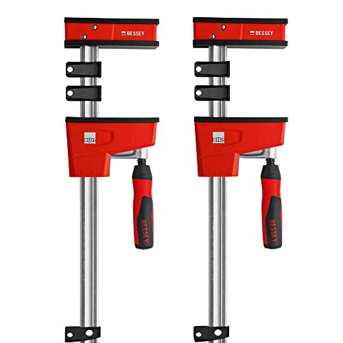 """Bessey - K-BODY REVOlution 12"""" Parallel Clamps with Composite Plastic Handle and 3-3/4-In. Throat Depth - 2-Pack"""