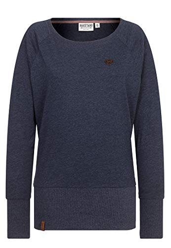 Naketano Female Sweatshirt Groupie, indigo blue melange, S