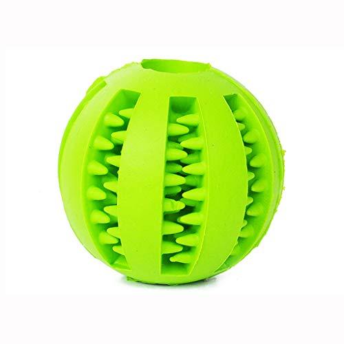 Jouet à mâcher pour chien, jouet en caoutchouc non toxique et résistant à la morsure pour le traitement des dents, jouet de nettoyage des dents pour la formation des chiots (vert) / diamètre 7 cm
