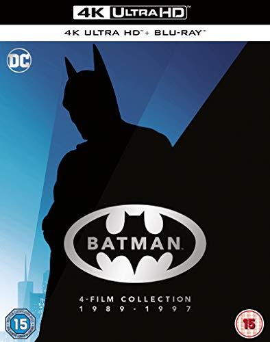 Batman 4-Film Collection 1989 - 1997 [4K Blu-ray] [2020] [Region Free] [Blu-ray]
