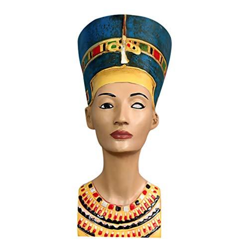 Homoyoyo - Figura de faraón egipcio de reina, escultura Nefertiti busto, figura egipcia antigua, decoración de escritorio para artesanía