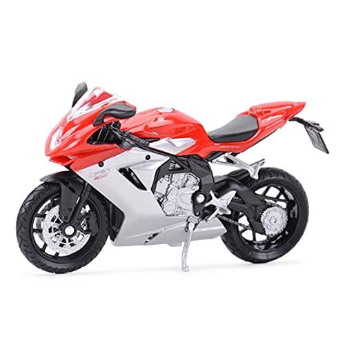 Boutique 1:18 Modelo Motocicleta Colección Vehículos Fundición A Presión Aleación Simulación En Miniatura para Coche Juguete Regalo Agusta F3 800