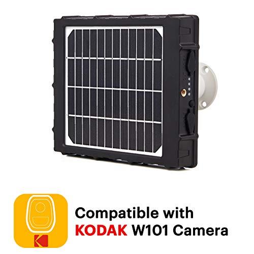 KODAK Panel Solar para Cámara de Seguridad Kodak W101 - Batería Integrada